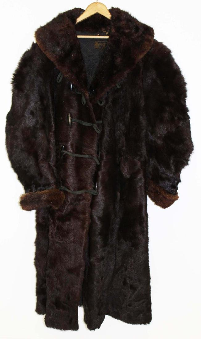 Vintage Ca. 1900 Gordon & Furguson Men's fur coat