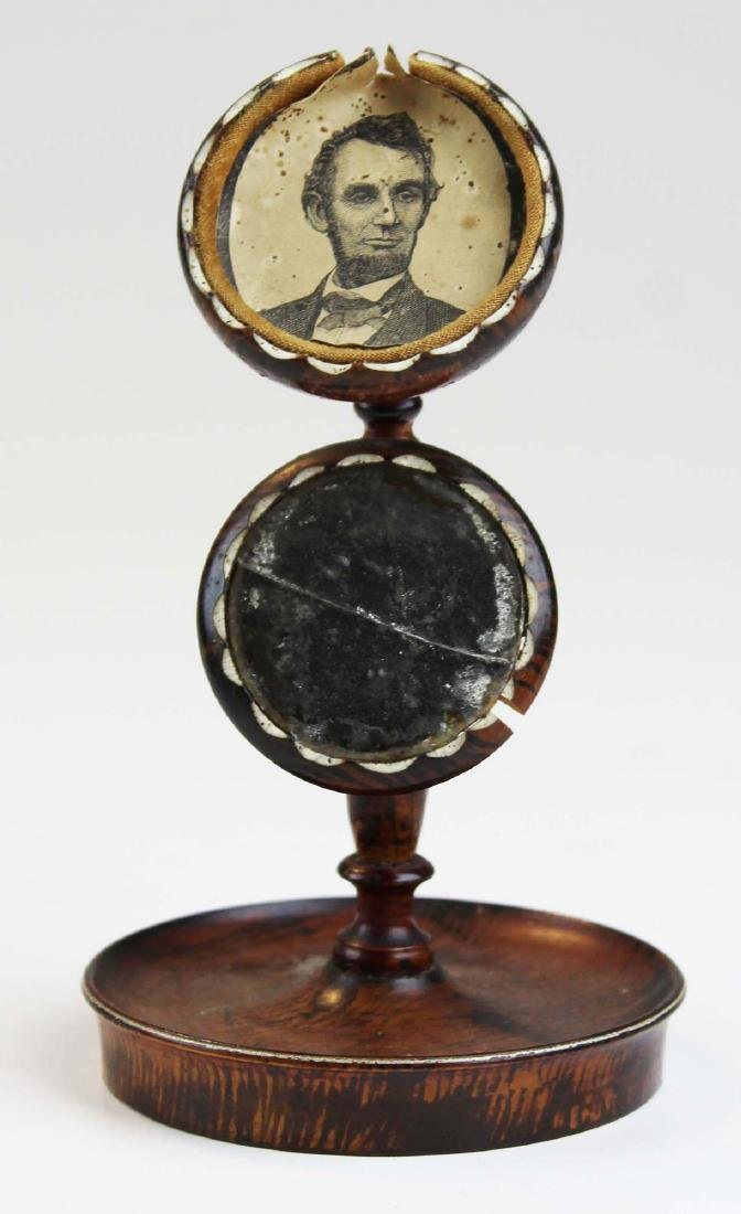 Civil War watch hutch w/ Lincoln engraving