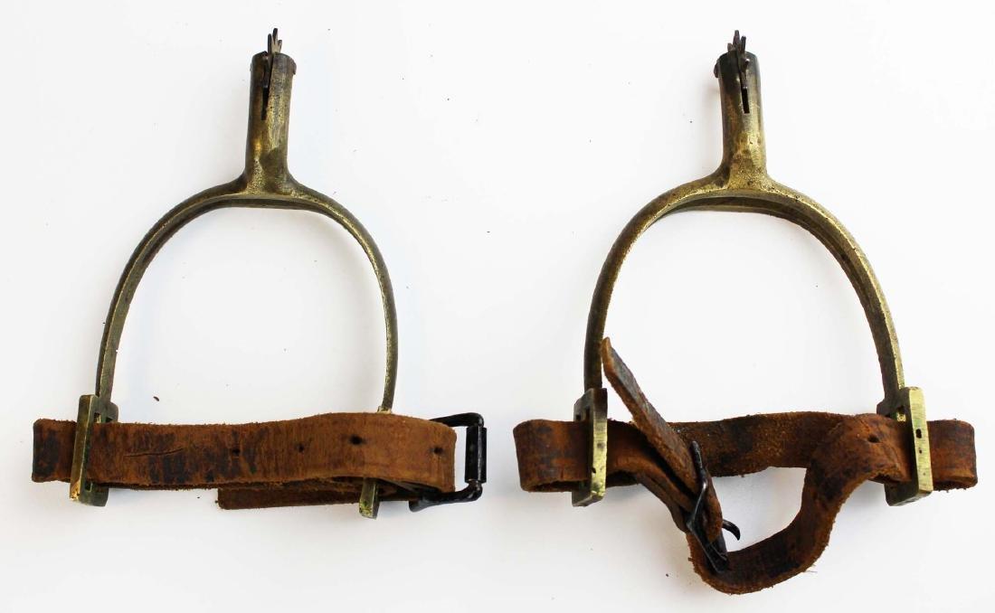 post Civil War US cartridge box, belt, spurs - 2