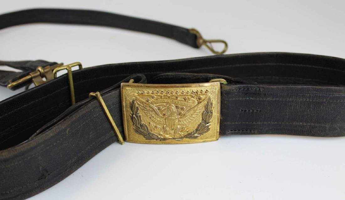 post Civil War US cartridge box, belt, spurs - 3