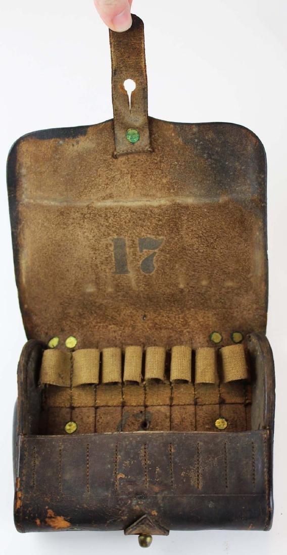 post Civil War US cartridge box, belt, spurs - 4