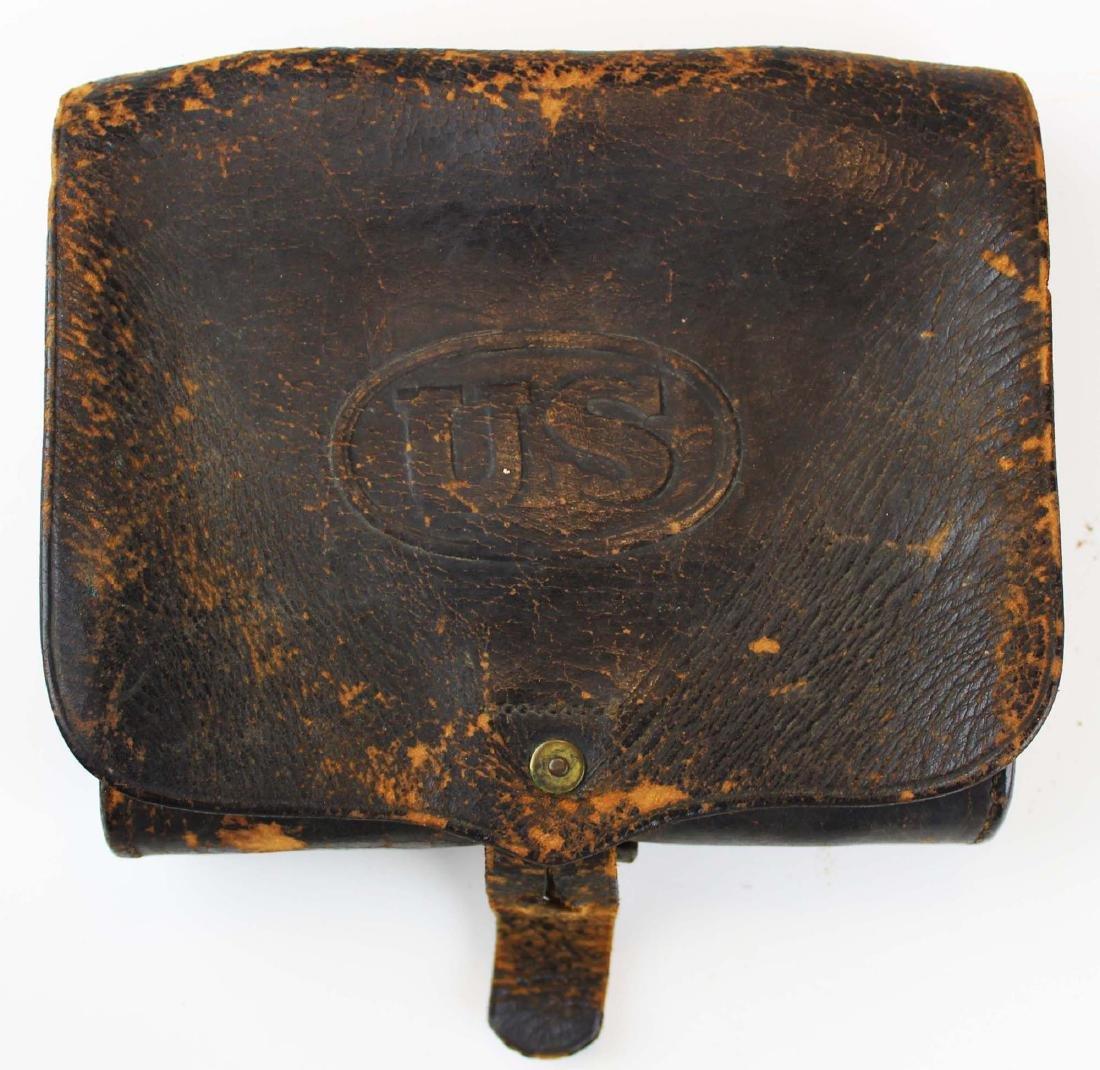 post Civil War US cartridge box, belt, spurs - 6