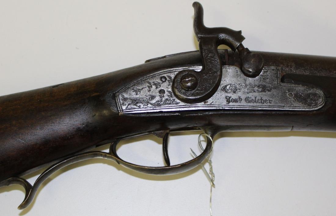 Circa 1840 Josh Goulcher .69 caliber fowler/musket