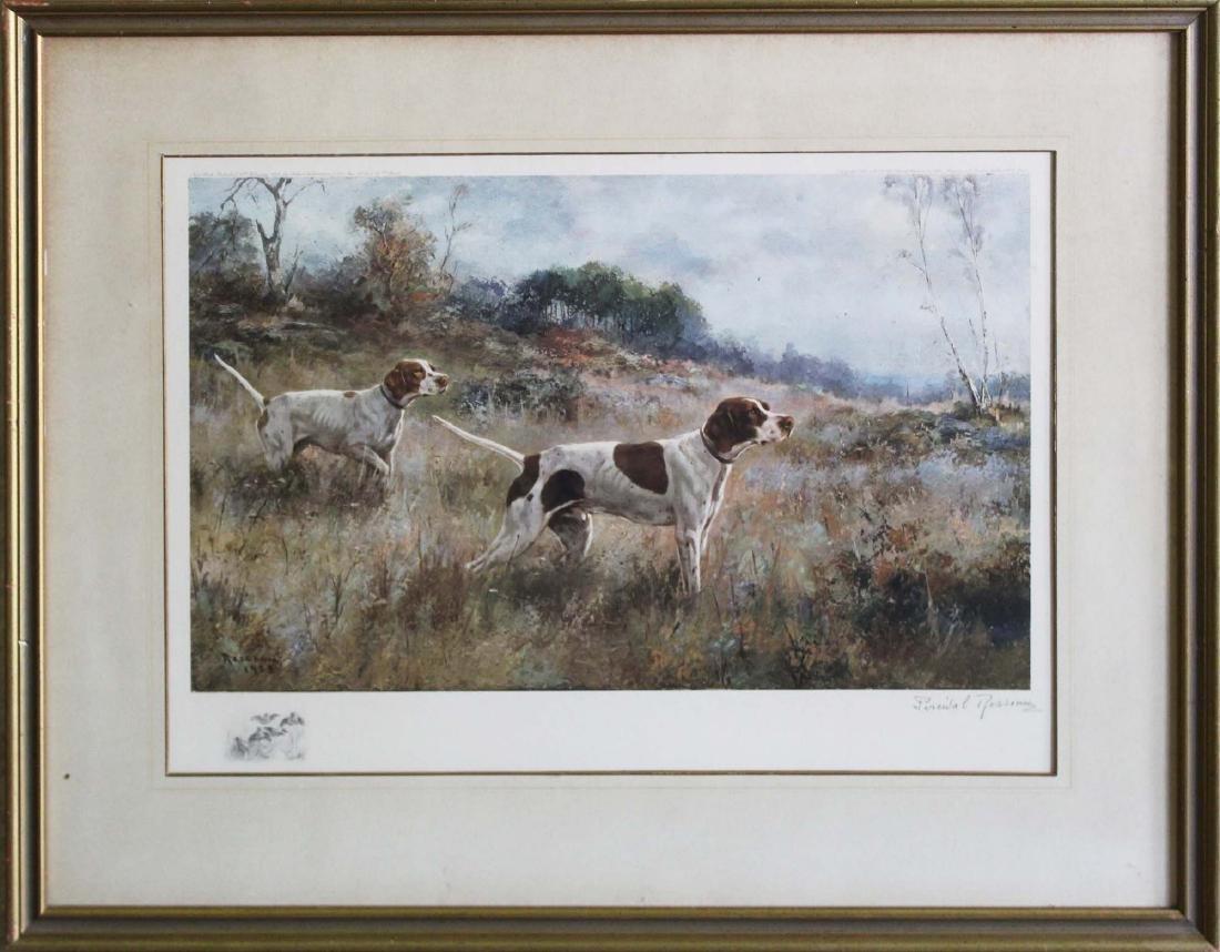 Percival Rosseau (AM 1859-1937) Sporting dogs