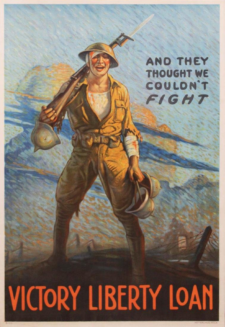 WWI Clyde Forsythe Liberty Loan poster