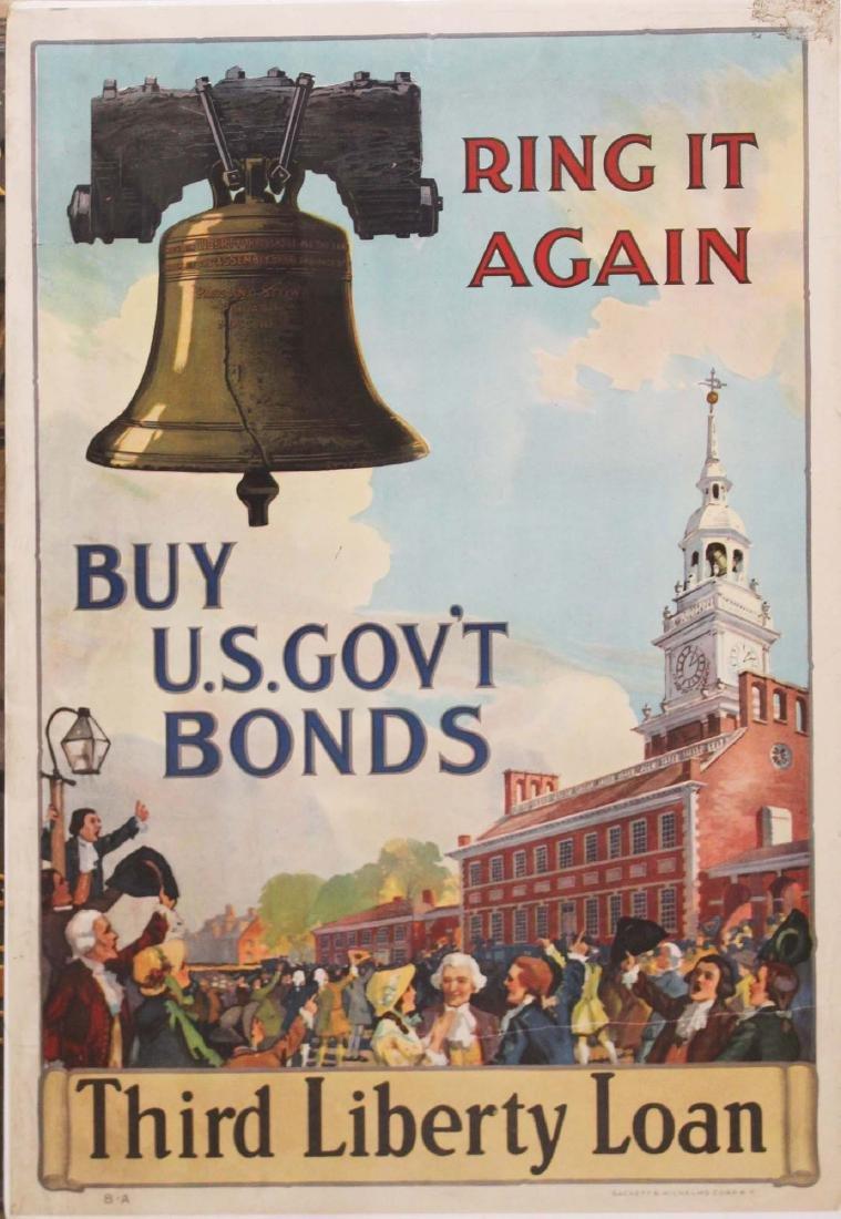 five WWI Liberty bond posters - 2