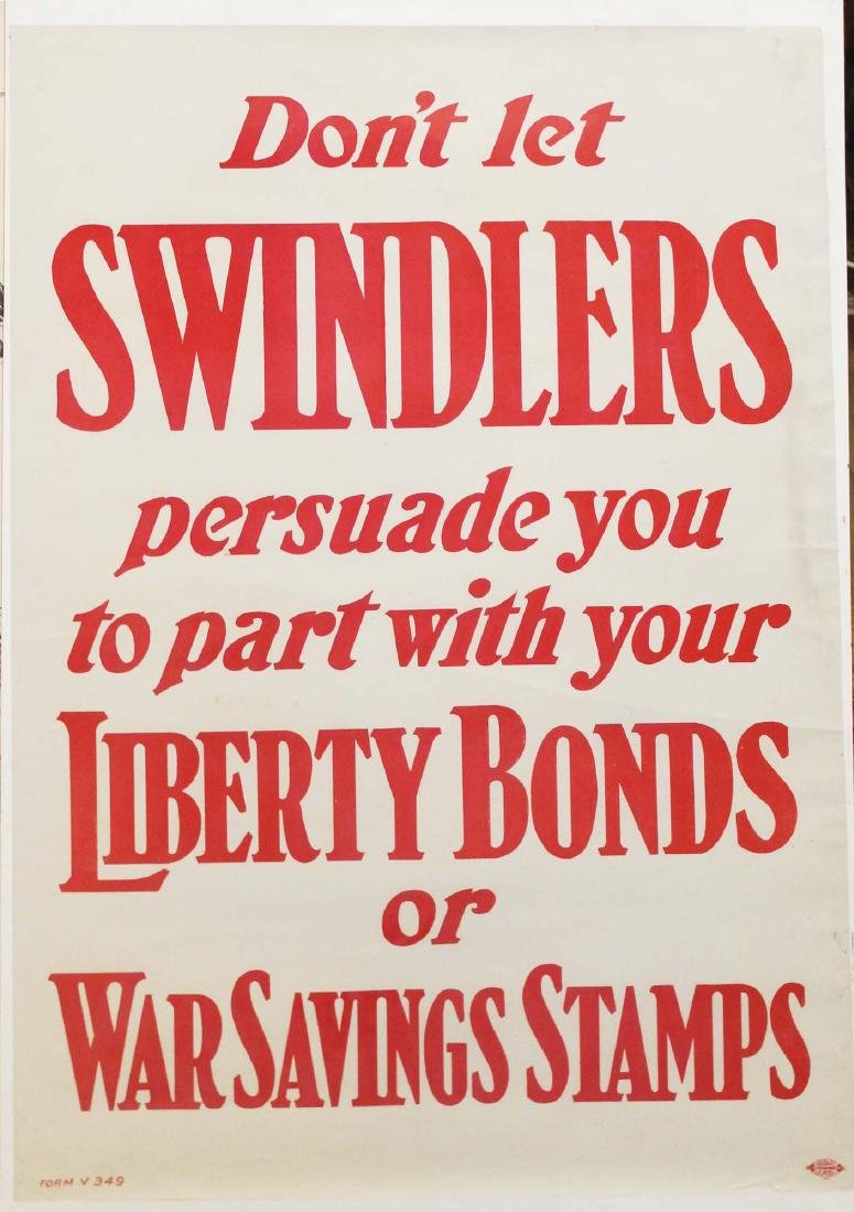 five WWI Liberty bond posters - 4