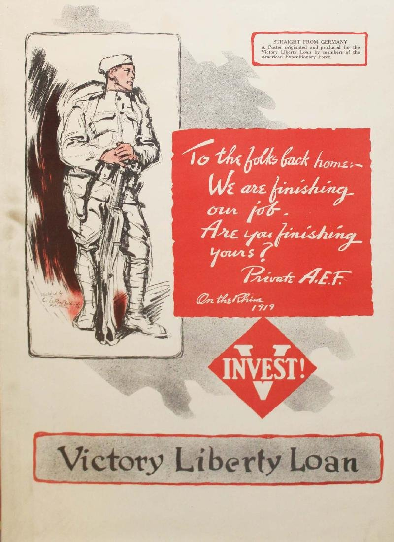 five WWI Liberty bond posters - 5