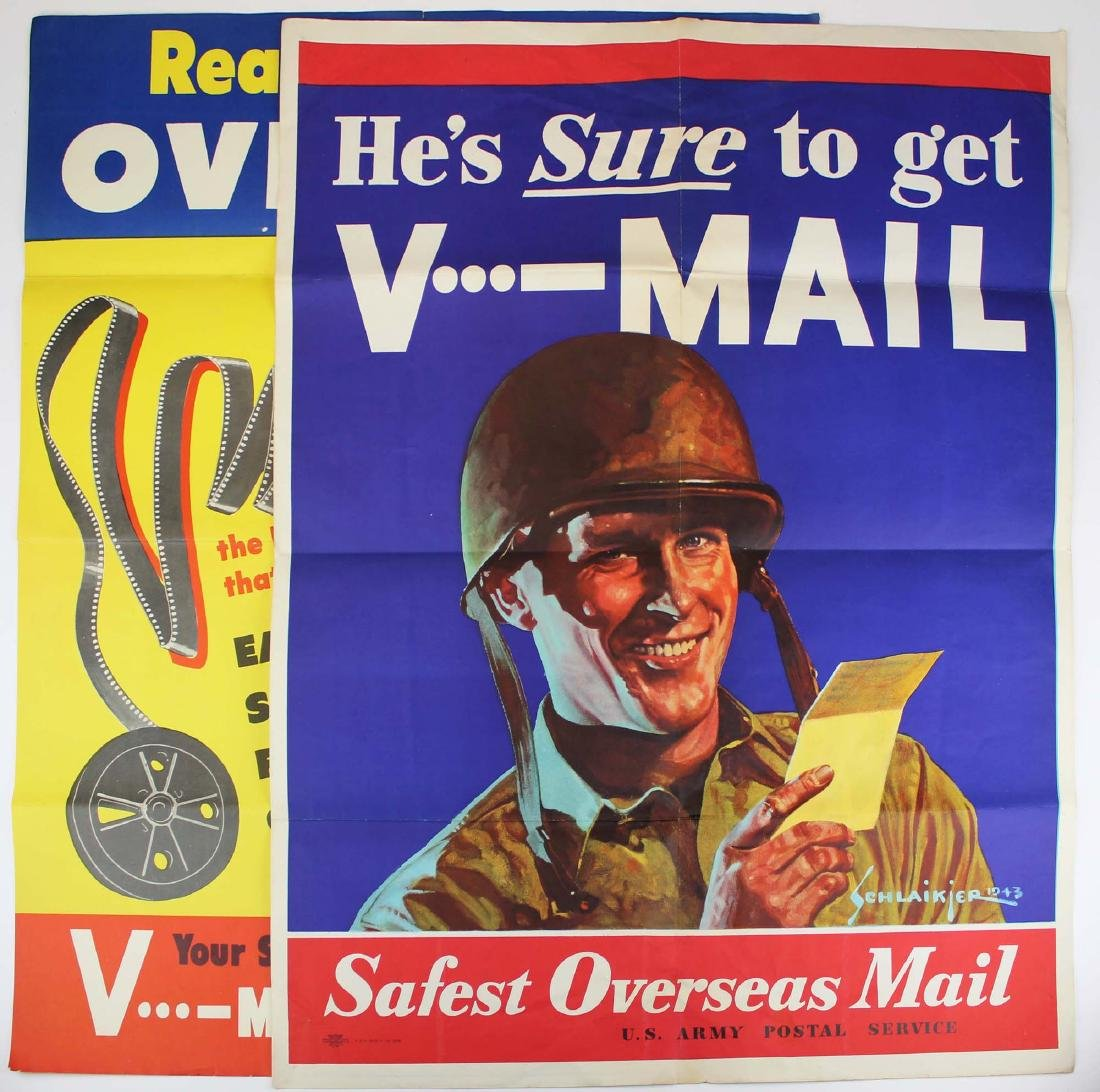 two WWII Schlaikjer V-Mail posters
