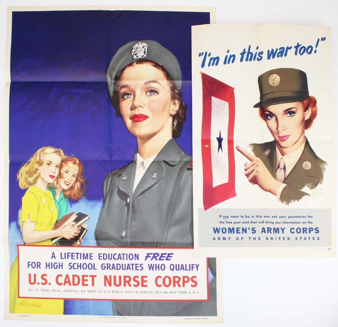 WWII US Cadet Nurse, Women's Army Corps