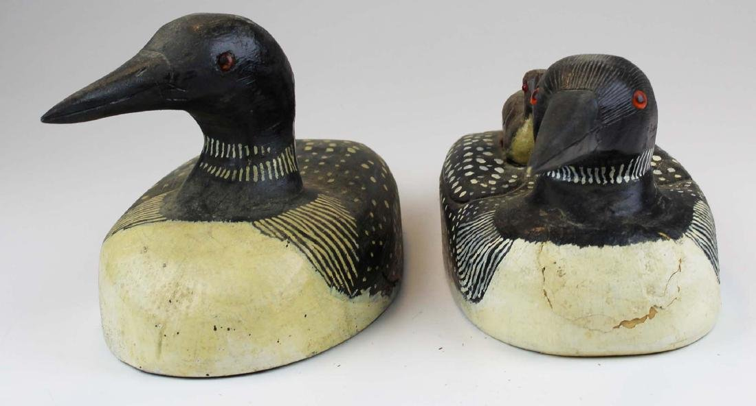 Rupert King Jr Loon family decoy carving - 3