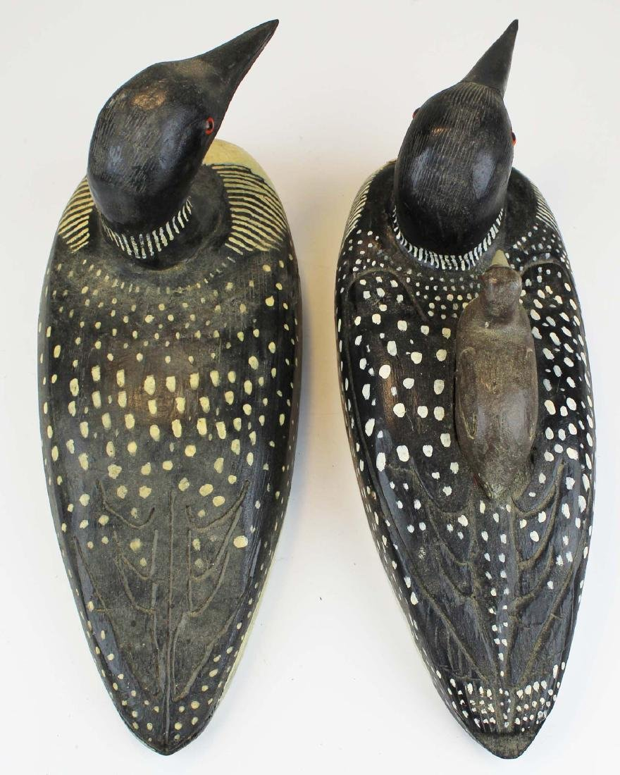 Rupert King Jr Loon family decoy carving - 5