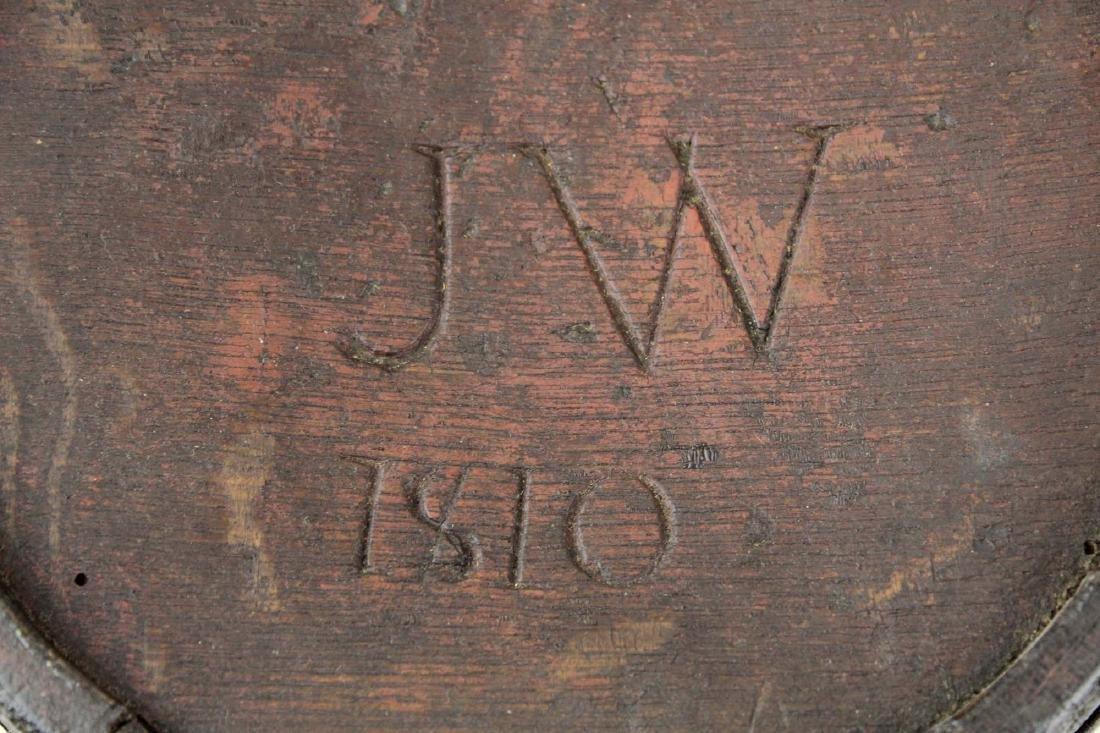 1810 wooden oak stave canteen - 2