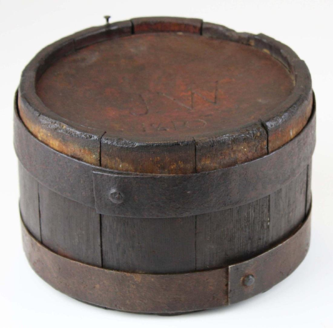 1810 wooden oak stave canteen - 5