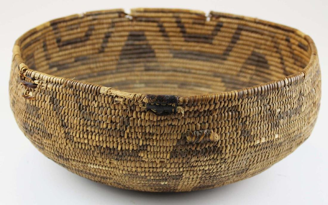 late 19th c Southwest coil basket