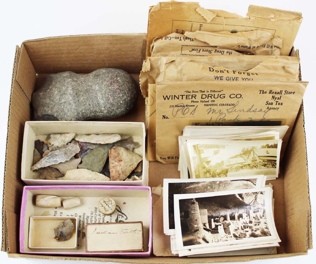 Manitou, Colorado Indian artifacts, photos