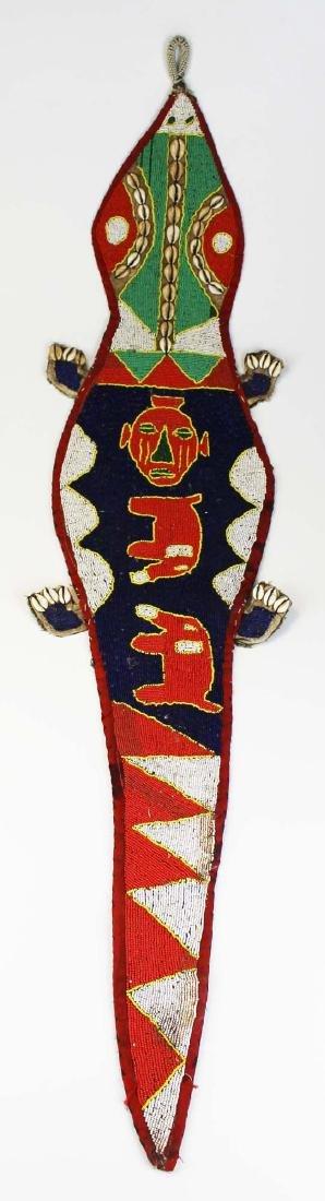 African Yoruba beaded lizard sash
