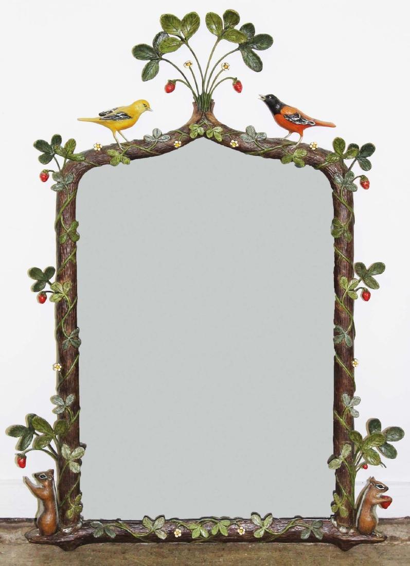 Carver's Guild Strawberry Thief artesan mirror