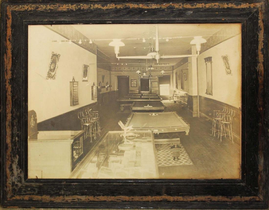 ca. 1900 large format billiard room photograph
