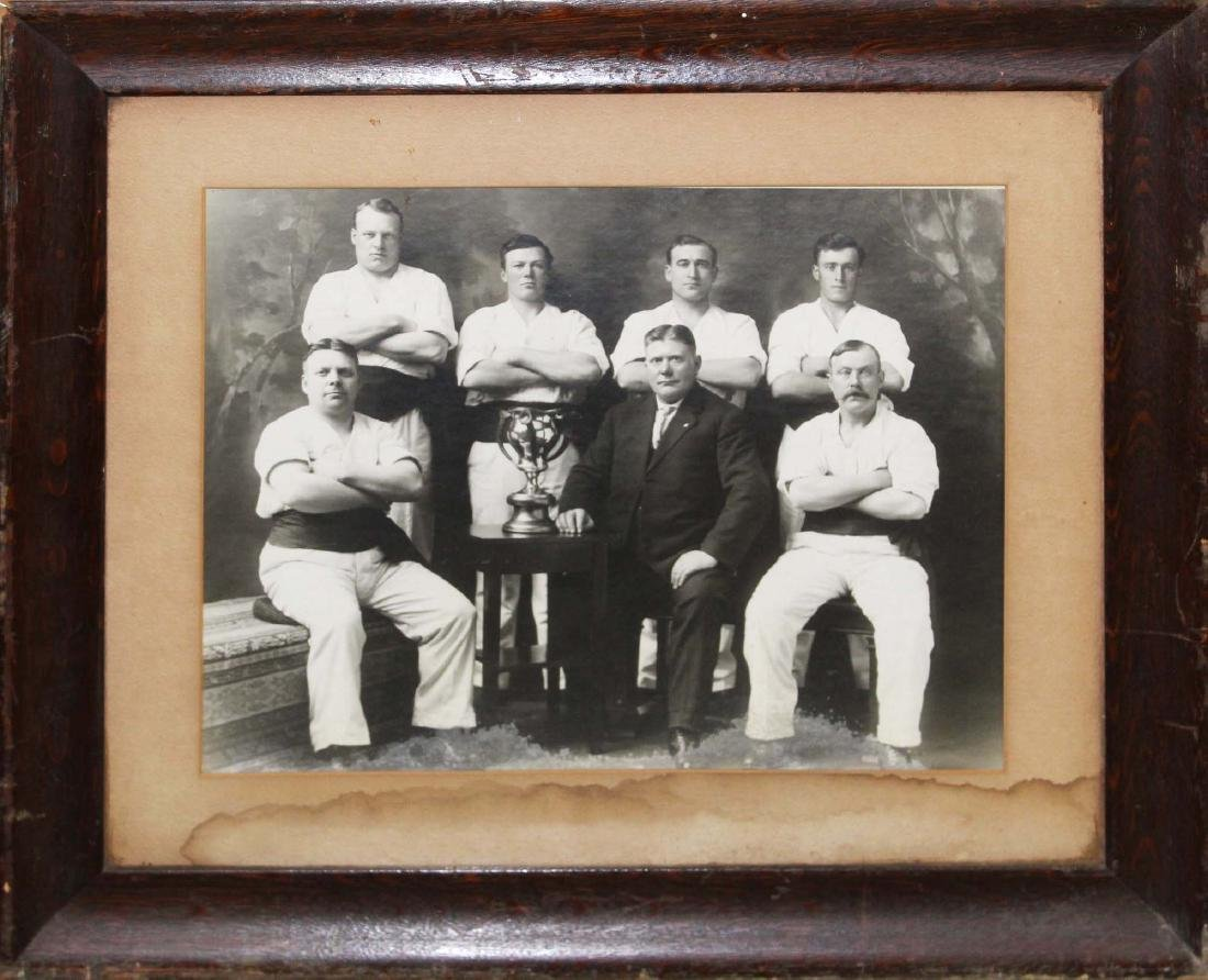 ca. 1900 large format wrestling team photograph