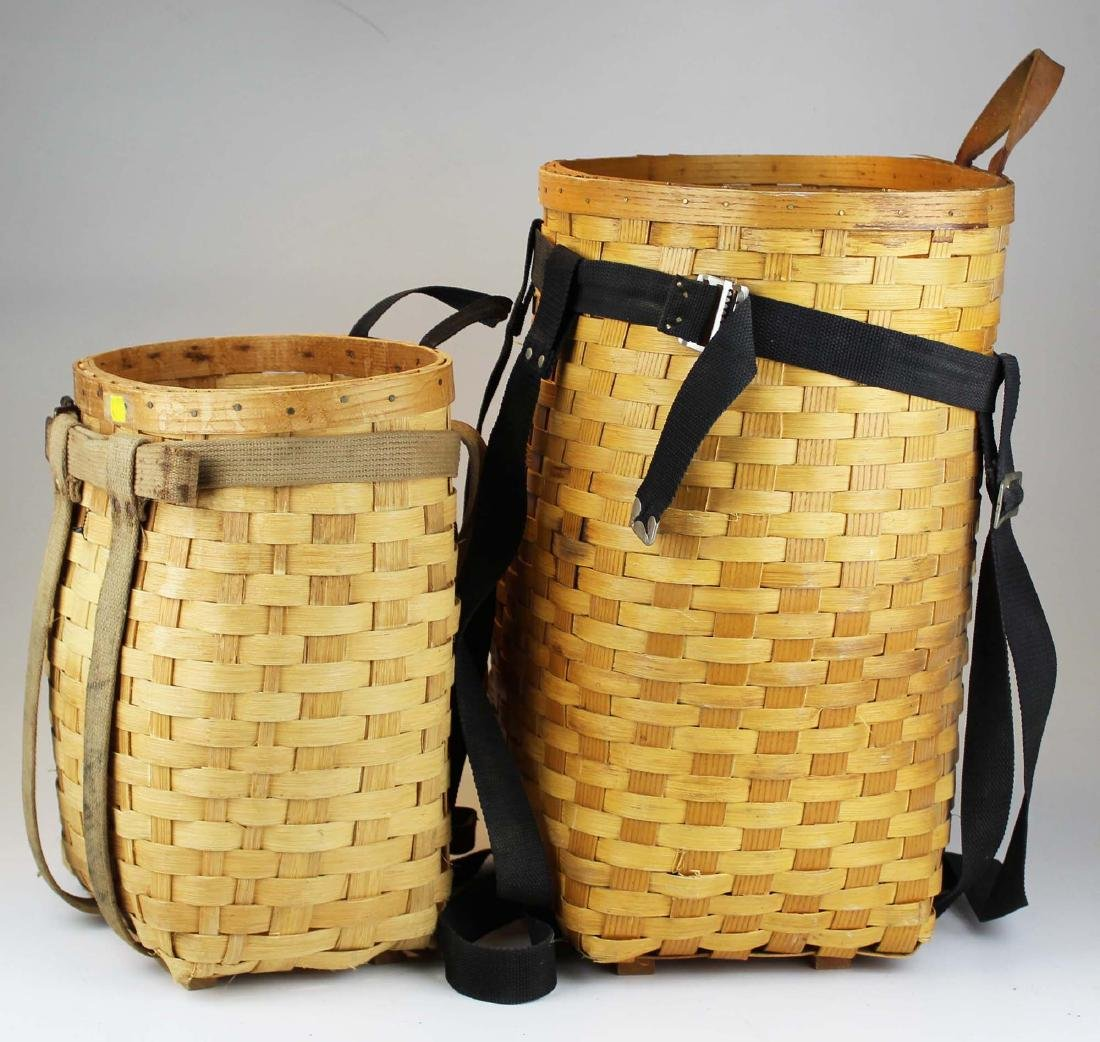 two contemporary splint pack baskets