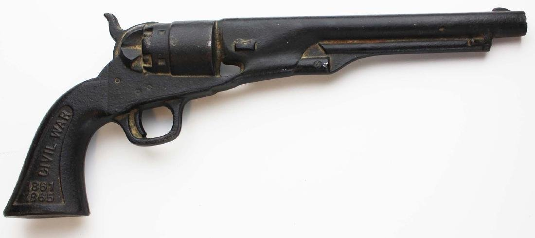 Civil War commemorative cast iron revolver