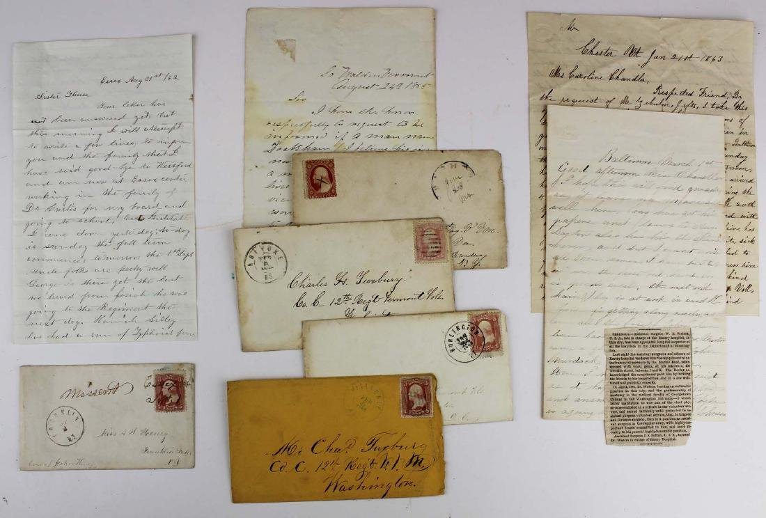 4 Vermont Civil War letters
