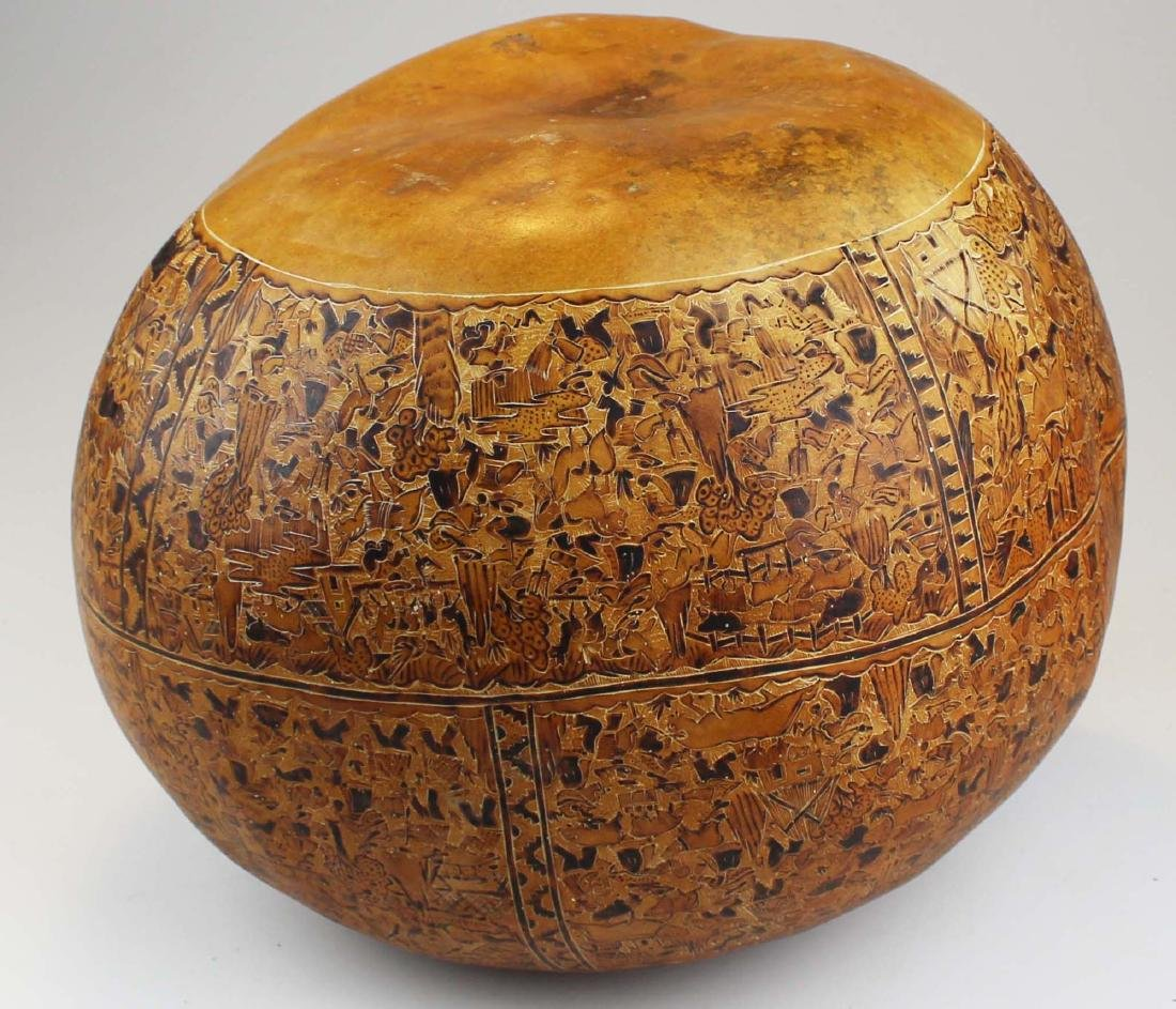 South American incised and decorated gourd - 5