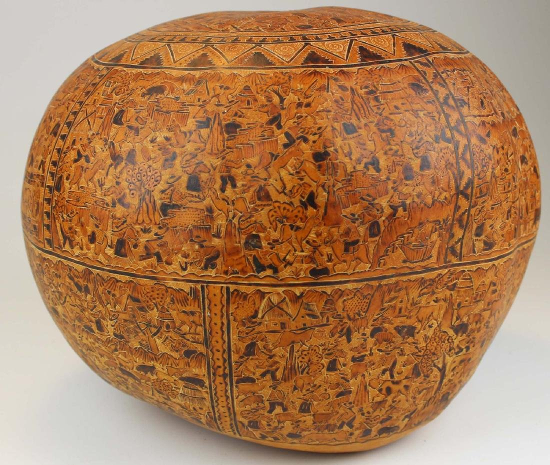 South American incised and decorated gourd - 7