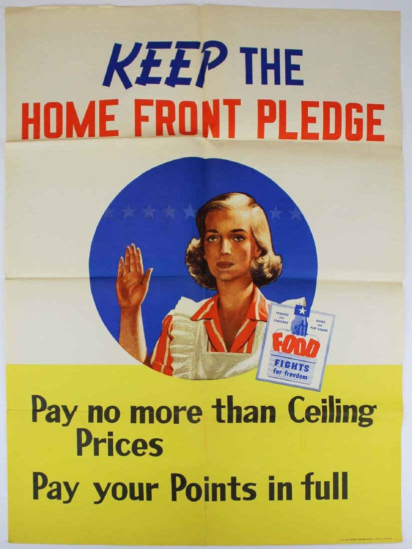 three WWII home front propaganda posters - 4