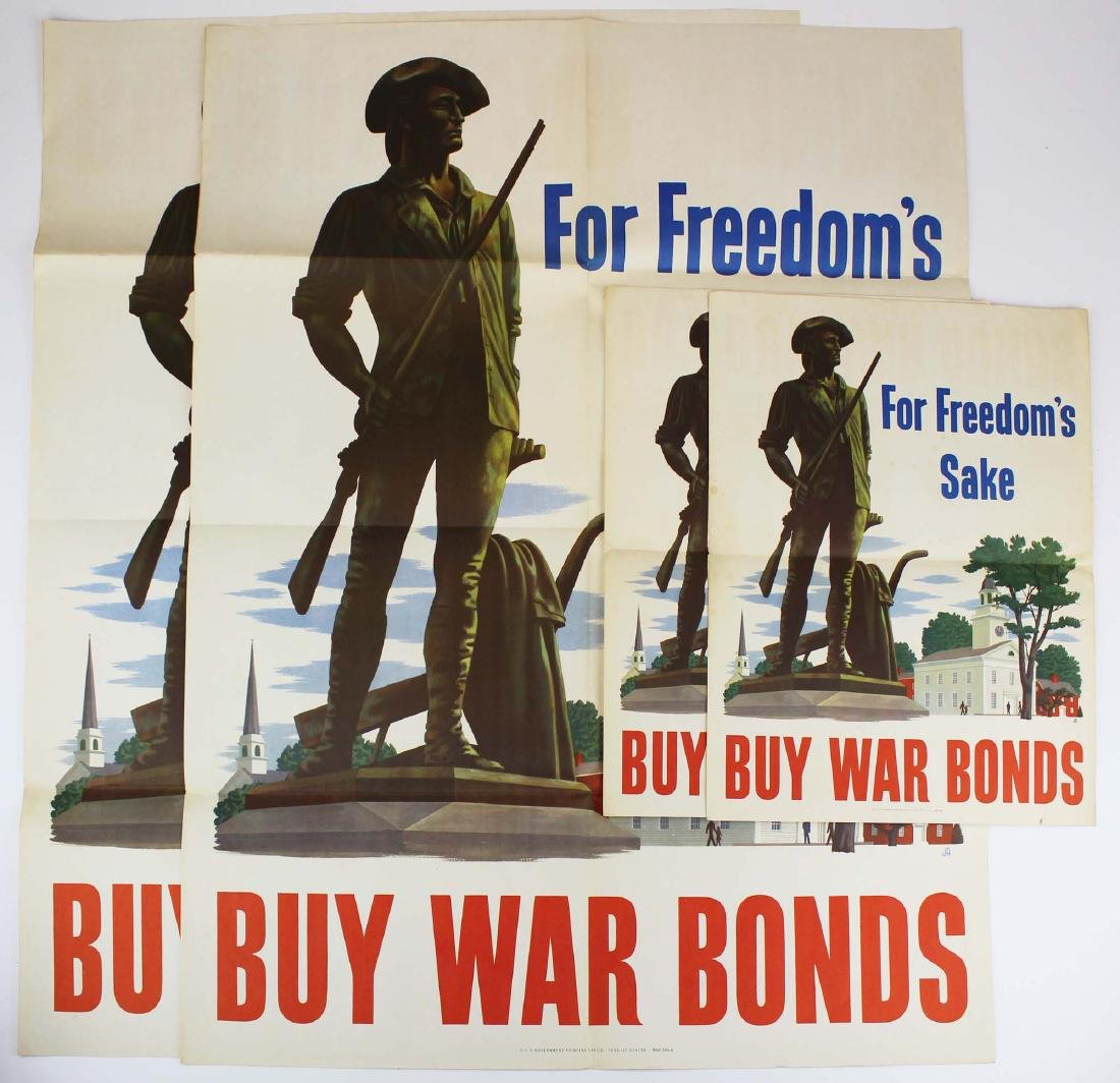four WWII home front propaganda posters