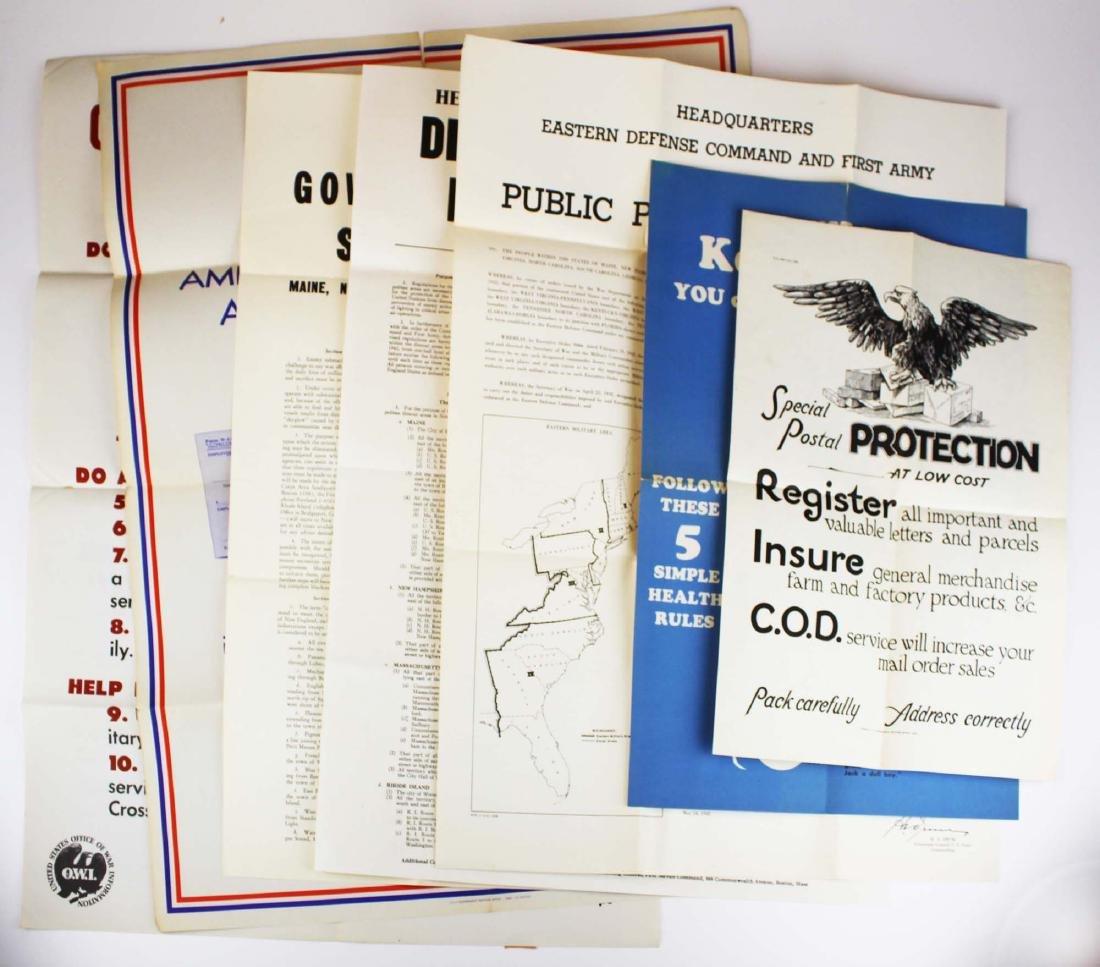 seven WWII information/ propaganda  posters