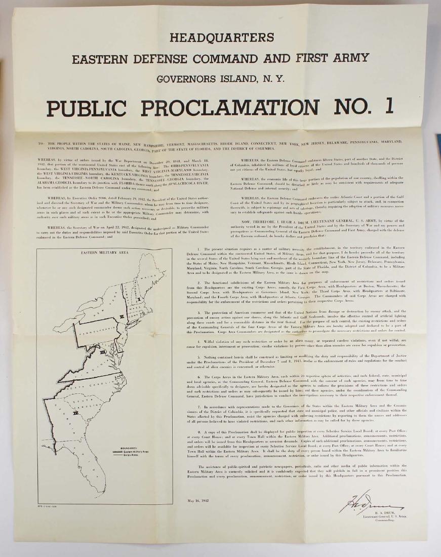 seven WWII information/ propaganda  posters - 7