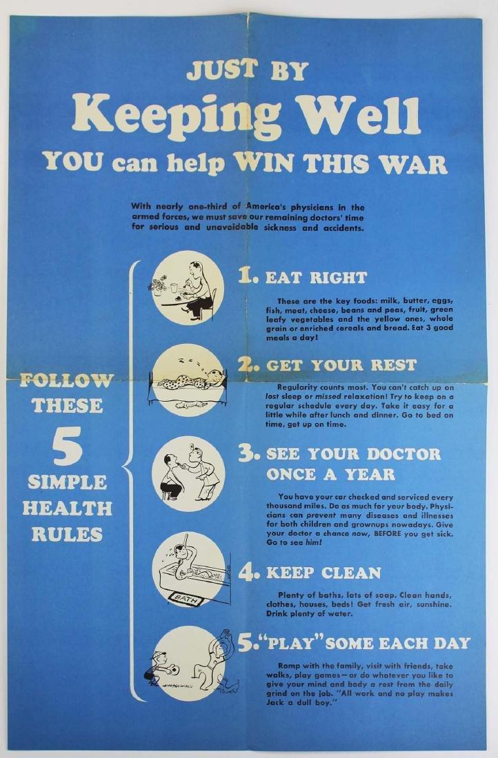 seven WWII information/ propaganda  posters - 8