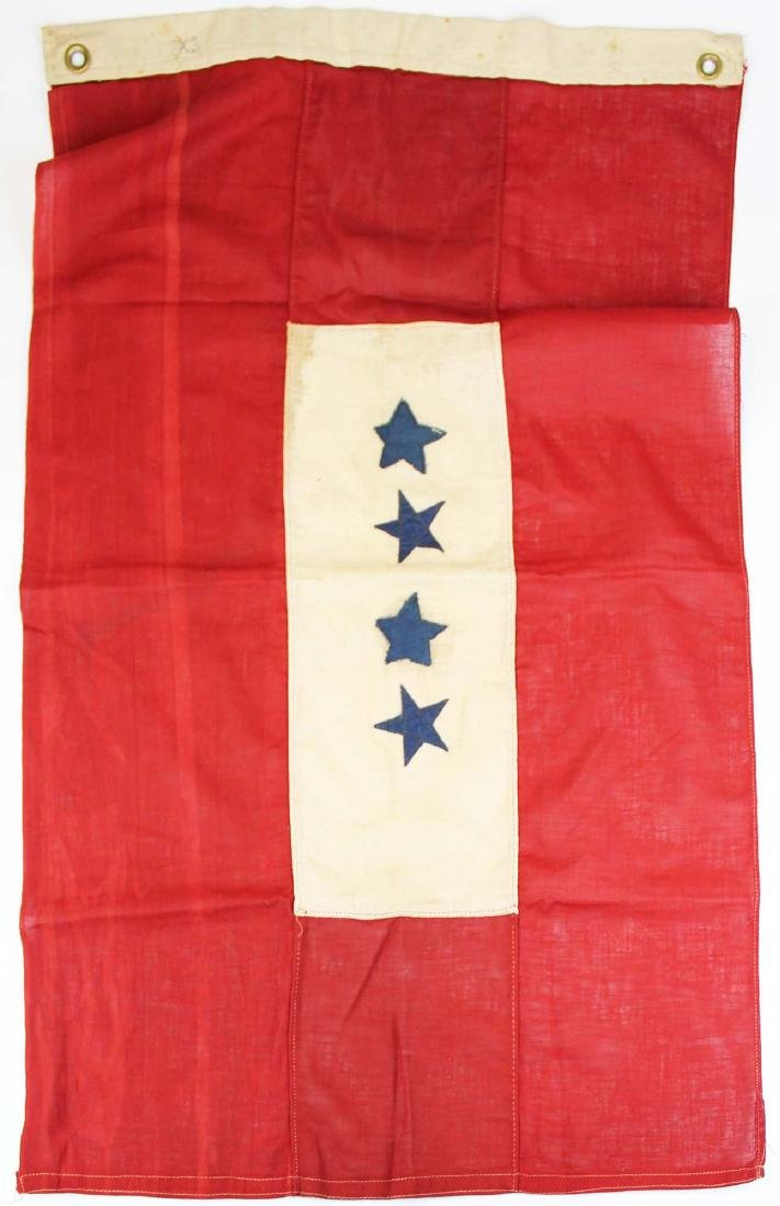 WWI US blue star service flag window banner - 3