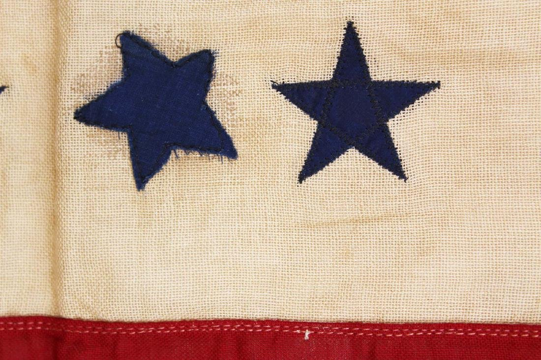 WWI US blue star service flag window banner - 7