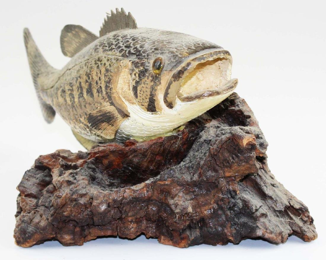 Rupert King Jr large mouth bass carving - 2