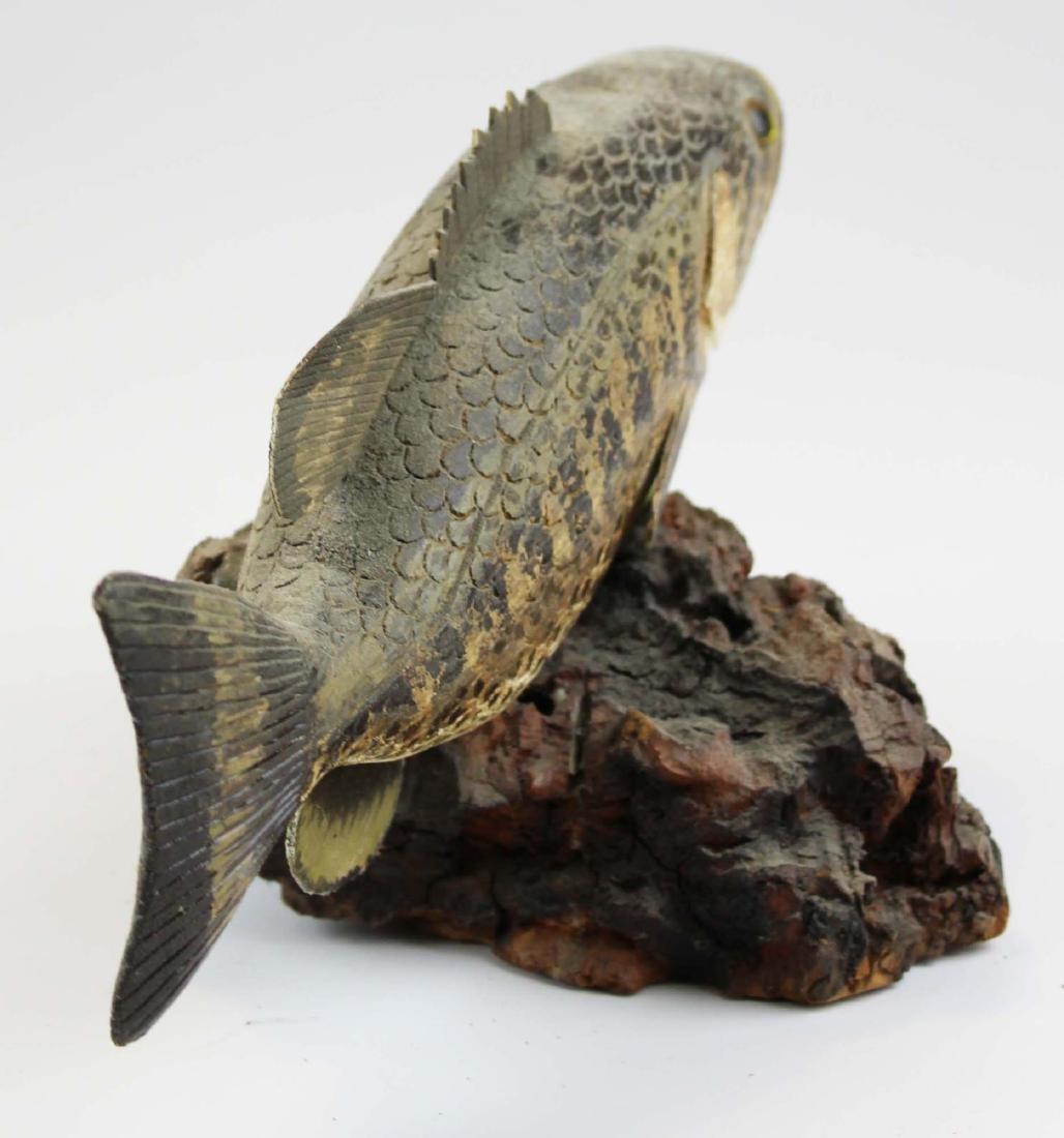 Rupert King Jr large mouth bass carving - 4