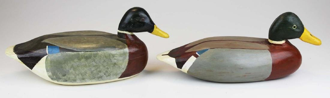 Two Mallard drake decoys by Rupert King Jr