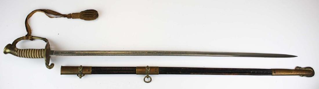 1930's US Navy officer's ceremonial sword - 9