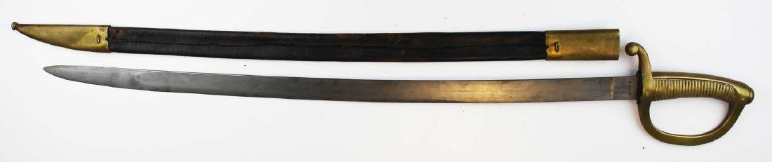 19th c Toledo short sword with scabbard - 3