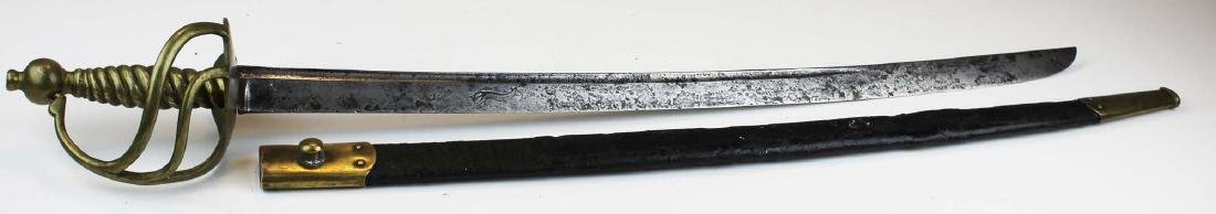 1750- 1768 English hanger w/ scabbard - 2