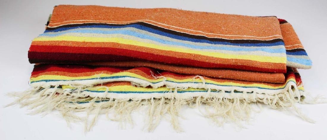 mid 20th c Saltillo woven multicolored blanket