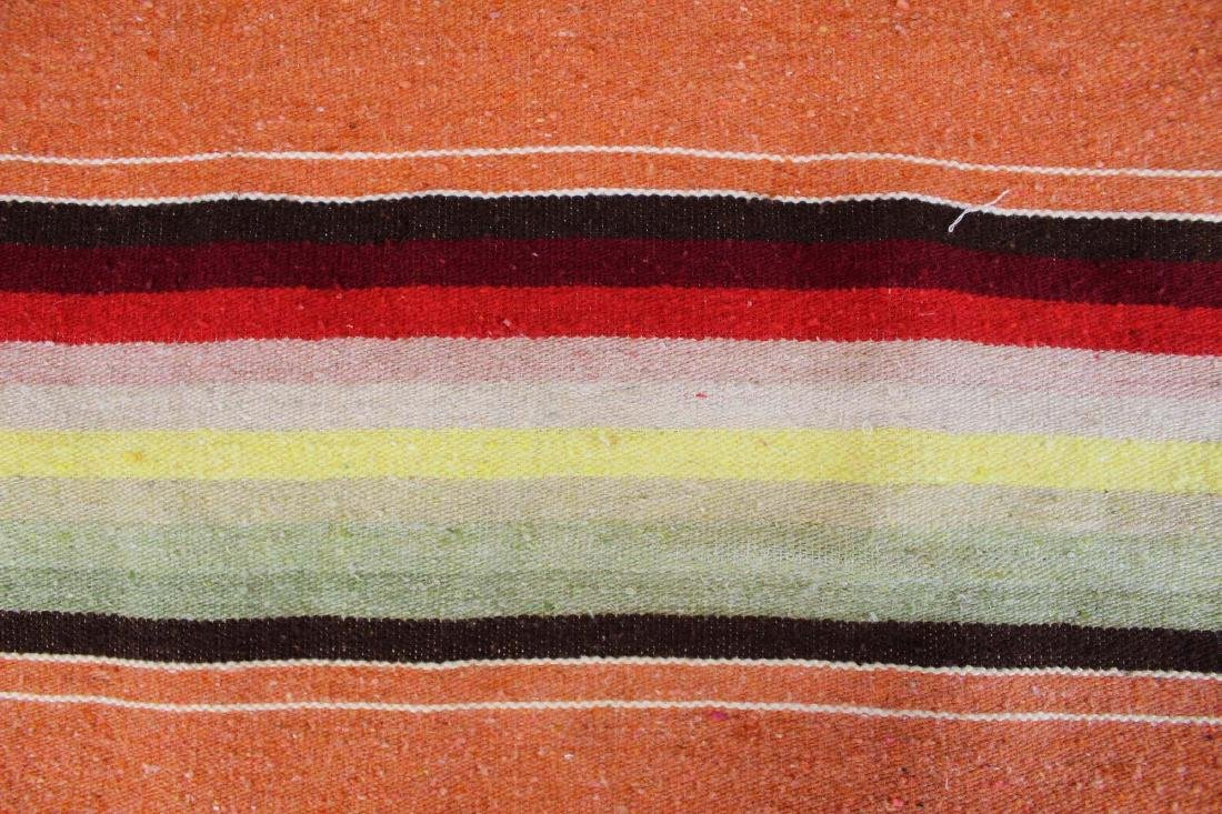 mid 20th c Saltillo woven multicolored blanket - 2