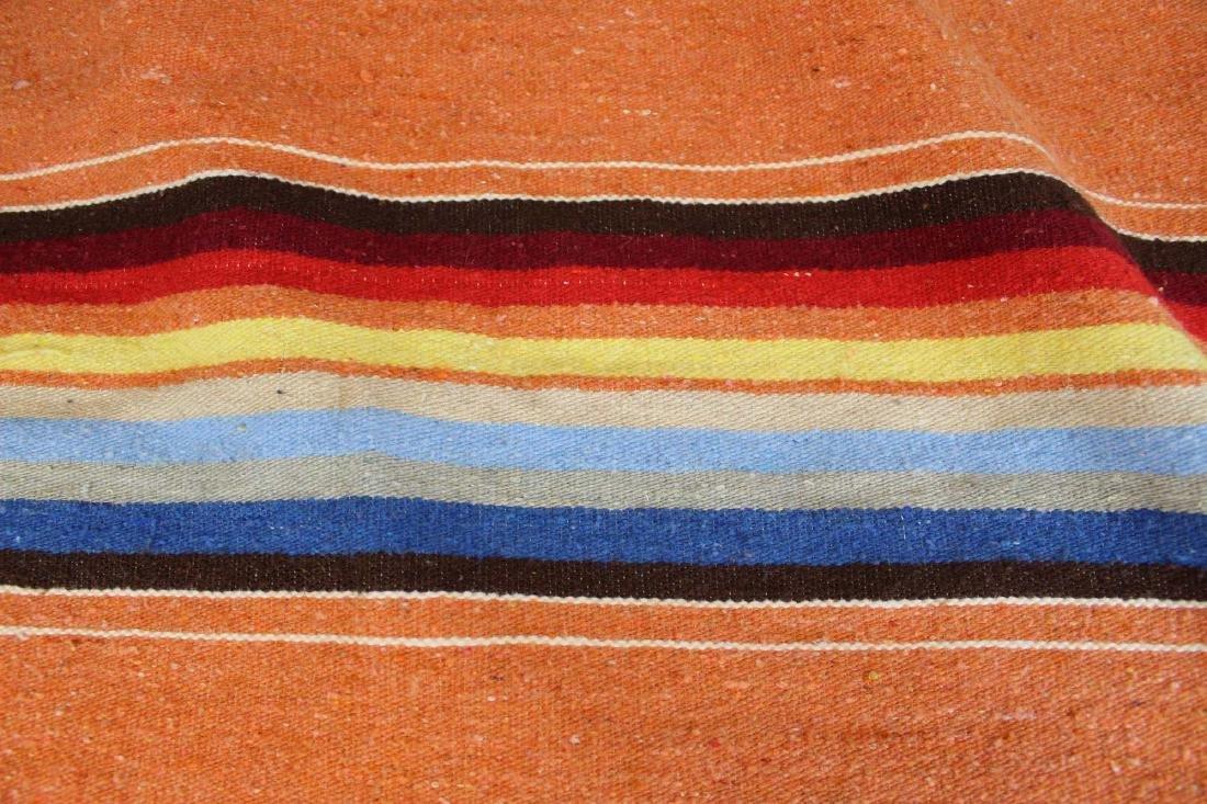 mid 20th c Saltillo woven multicolored blanket - 3
