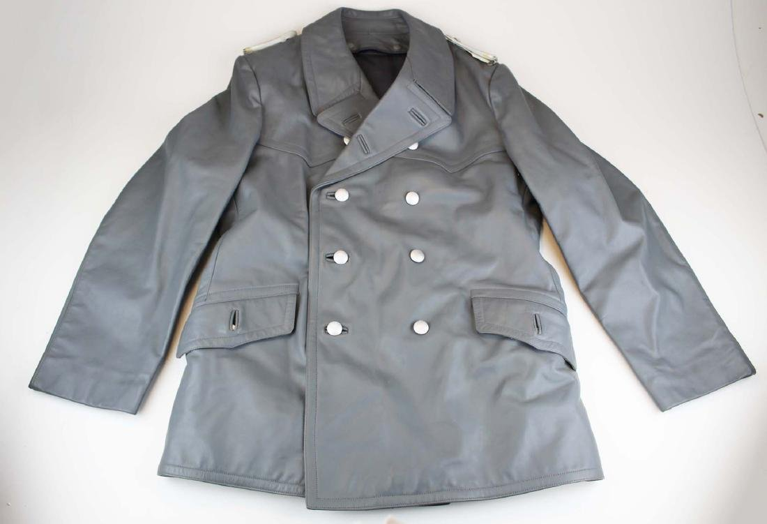 German U-Boat grey leather coat