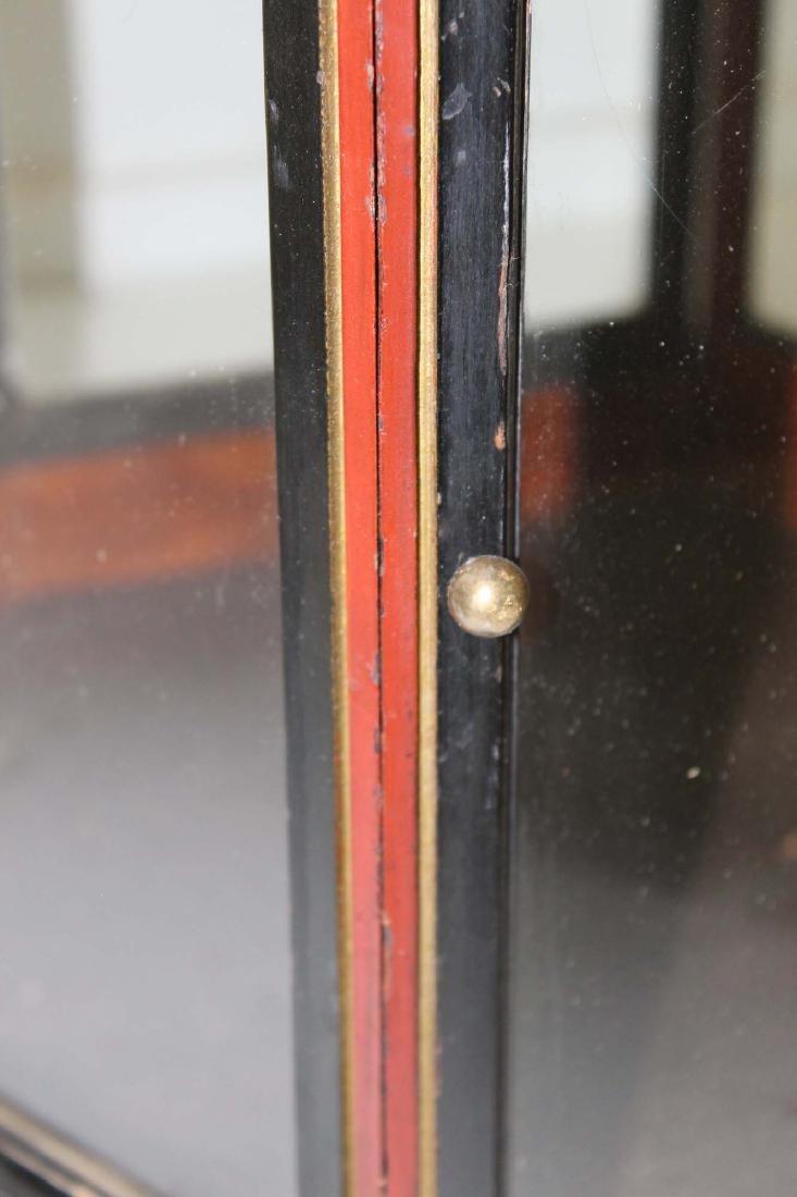 Victorian walnut hexagonal display case - 3