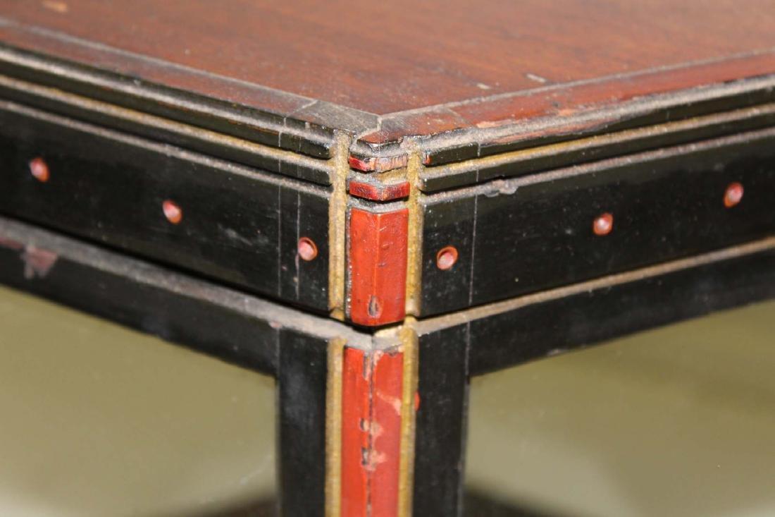 Victorian walnut hexagonal display case - 5