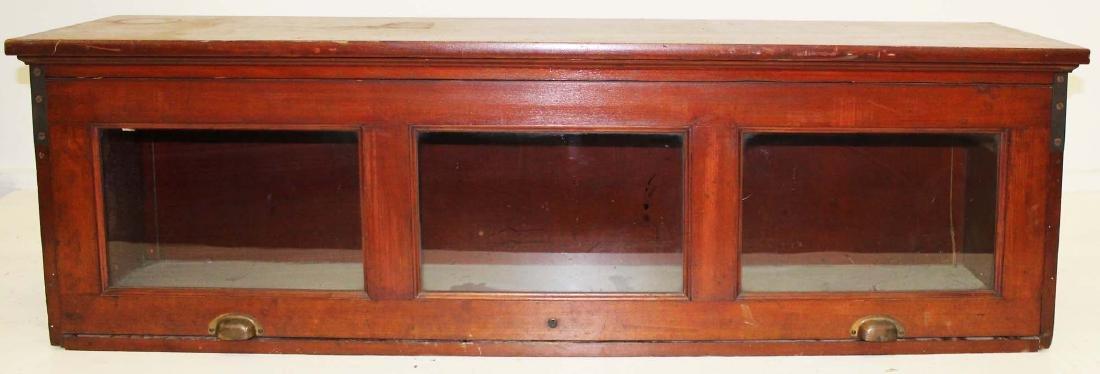 cherry countertop display cabinet