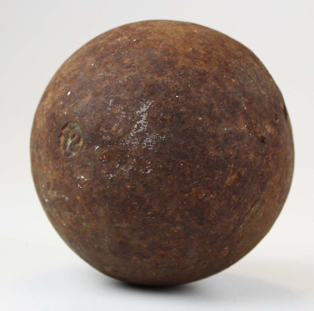 vintage cast iron 12 pound shot put